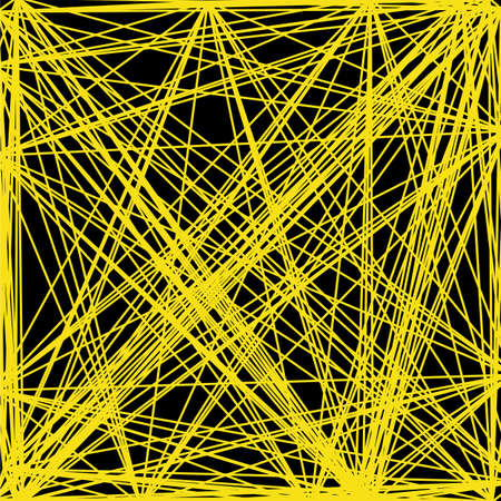 thorny: Vector abstract background of interwoven yellow lines, net