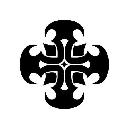 Christian cruz de la iglesia, ilustración vectorial símbolo religioso cristiano