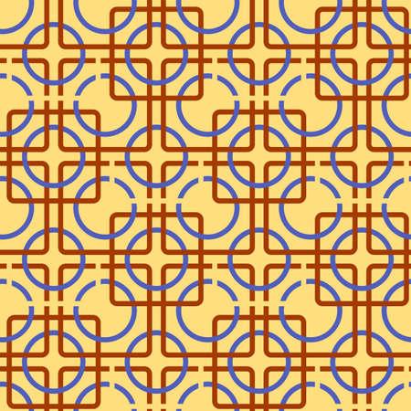 fon: Geometric seamless pattern, color geometric pattern on yellow background
