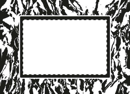 vellum: Grunge abstract background with texture creases and shabby, grunge frame