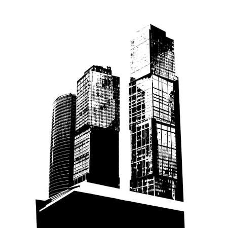 Modern business buildings, majestic skyscrapers, vector business illustration Illustration