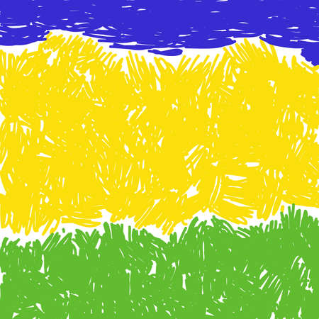 Abstract summer background sea, sand and grass Illustration