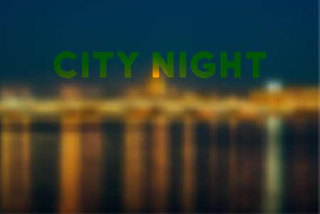 City night vector blur background Illustration