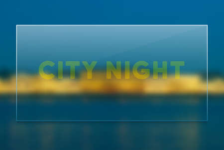 City night vector blur background  イラスト・ベクター素材