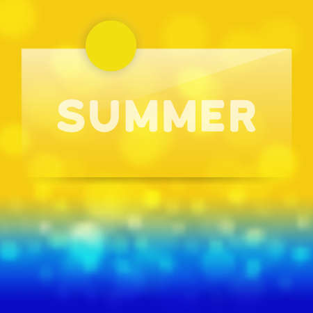 Summer background with transparent label