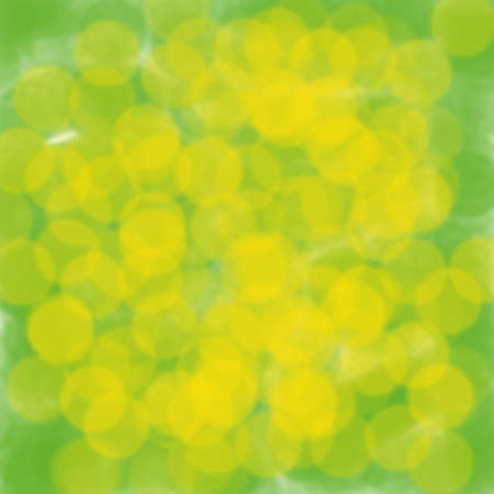 Abstract green background with yellow bokeh 写真素材
