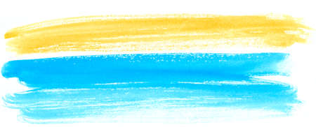 Sea and sand, abstract summer view watercolor background