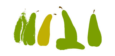 Pears sorrow concept hand drawn vector illustration Stock Vector - 101870740