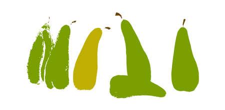 Pears sorrow concept hand drawn vector illustration