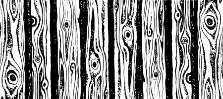 Background of wooden logs hand drawn vector illustration