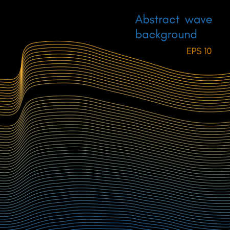 Abstract wave background design Stock Vector - 102285970