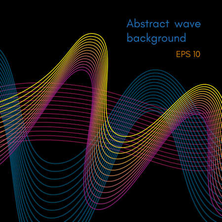 Abstract wave background design Stock Vector - 103112072