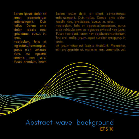 Abstract wave background design