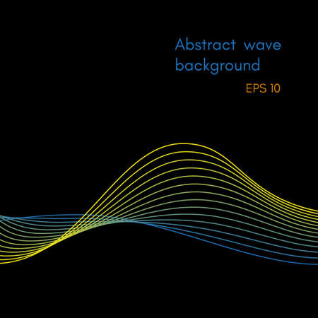 Abstract wave background design Stock Vector - 102285971