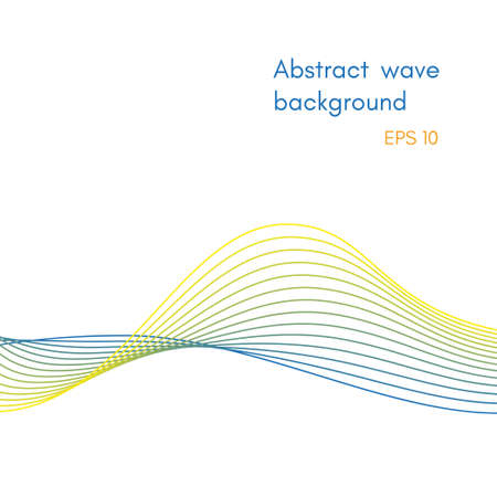 Abstract background for design, wave lines 일러스트
