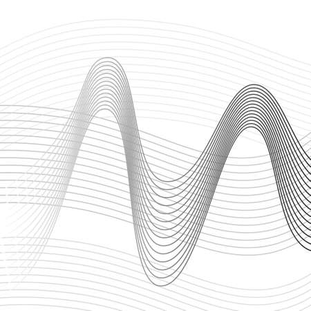 Abstract background for design, wave lines Illustration