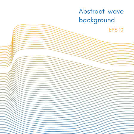 Abstract background for design, wave lines  イラスト・ベクター素材