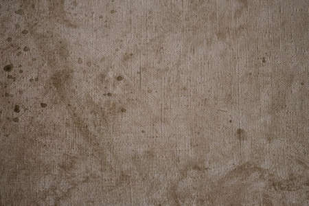 Grunge background canvas with brown paint closeup 写真素材