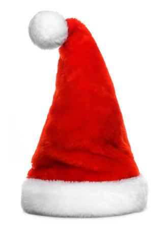Santa Claus red hat isolated on white background Reklamní fotografie