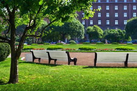 Green city park. Saint-Petersburg, Russia