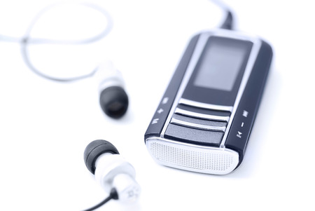 portable mp3 player: Portable MP3 player with headphones