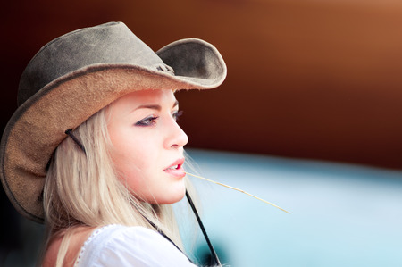 american sexy: Sexy woman with cowboy hat