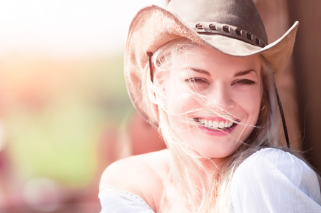 sexy cowboy: Sexy woman with cowboy hat