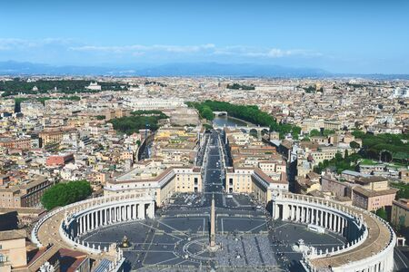 st  peter's square: St. Peters Square in Rome, Vatican State Stock Photo
