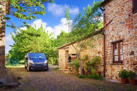 Traditional Italian villa, Tuscany, Italy Stock Photo