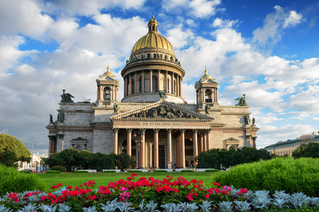 St. Isaac Kathedraal in Sint-Petersburg, Rusland. sityscape