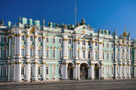 palacio ruso: Vista del Palacio de Invierno en San Petersburgo