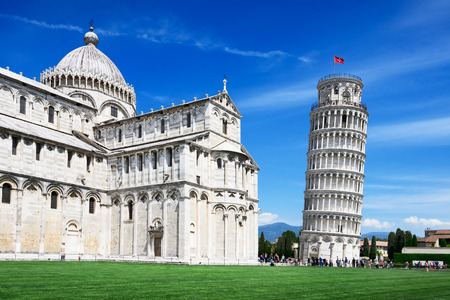 campo dei miracoli: Leaning Tower, Pisa, Italy Stock Photo
