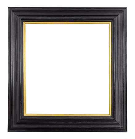 objetos cuadrados: Marco de la vendimia del oro aislado en el fondo blanco Foto de archivo