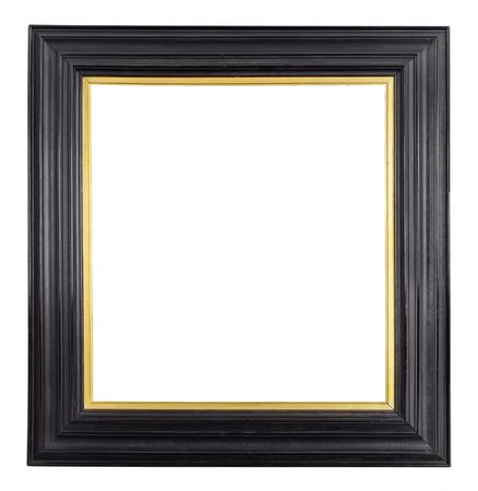 Vintage frame or isolé sur fond blanc