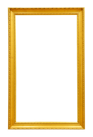 Goud vintage frame op een witte achtergrond