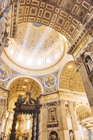 Interior of the St. Peter Basilica, Vatican
