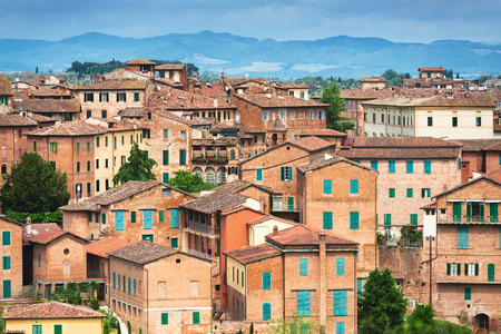 sienna: Architecture of Sienna city, Italy Stock Photo