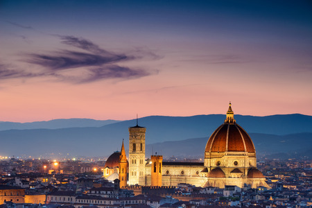 maria: Beautiful sunset over Cathedral of Santa Maria del Fiore (Duomo), Florence, Italy