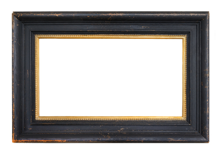 Gold vintage frame isolated on white background Zdjęcie Seryjne - 48507038