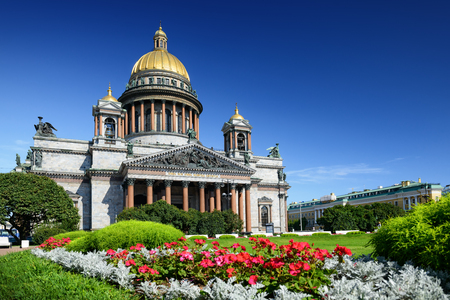 isaac: St. Isaac Cathedral in Saint-Petersburg, Russia. Sityscape
