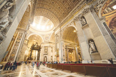 saint peter: Interior of the St. Peter Basilica, Vatican