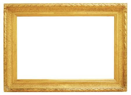 Gold Vintage-Rahmen auf weißem Hintergrund Standard-Bild - 48623202