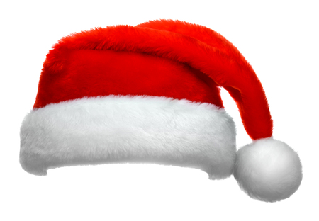 Santa Claus red hat isolated on white background 写真素材