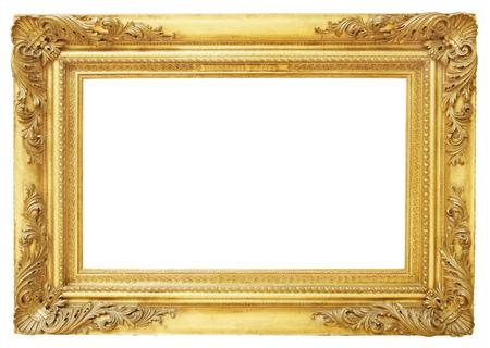 Gouden vintage frame geïsoleerd op een witte achtergrond