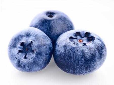 bilberry: Fresh bilberry on white background Stock Photo