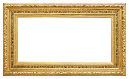 Gouden vintage frame geïsoleerd op een witte achtergrond Stockfoto - 48624042
