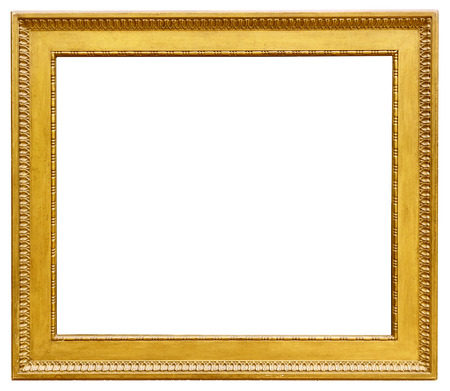 photo of pattern: Gold vintage frame isolated on white background