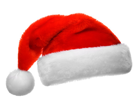 Santa Claus red hat isolée sur fond blanc Banque d'images - 48624564