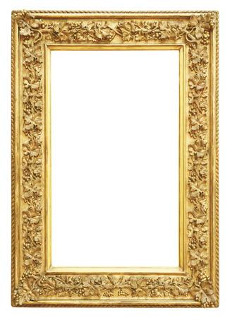 Vintage frame or isolé sur fond blanc Banque d'images - 48624908