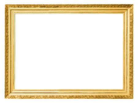 Cornice oro d'epoca isolato su sfondo bianco Archivio Fotografico - 48624909